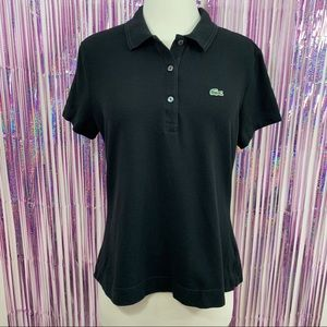 Lacoste Classic Black Pique Polo Shirt